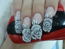 White Rose Nail Design White Roses On Nails 2385386 Hd Wallpaper Backgrounds