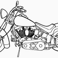 December Coloring Pages With Motorcycle Free And Printable 21 Santa
