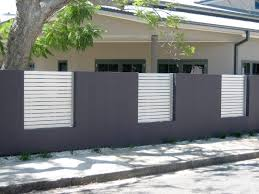 Elegant Gray And White Home Fence 4 Home Ideas