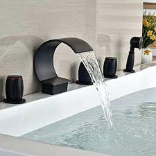 bathtub fixtures with handheld shower waterfall bathroom tub faucet brushed nickel hand held shower head bathtub faucet bathtub faucet handheld shower head