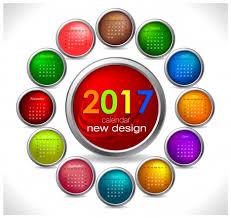 Circle Calendar Template Calendar 2017 Templates Circle Button Vectors Stock In