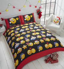 details about festive emoji lol red white black king size duvet cover