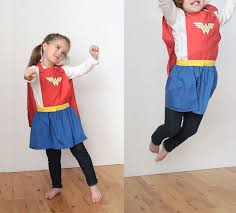 superhero cape skirt free sewing pattern for girls
