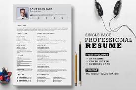 Professional Resume Classy Professional Resume Set Resume Templates Creative Market