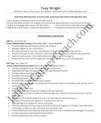 Administrative Assistant Resume Skills Cool Professional Administrative Resume Senior Level Executive Assistant