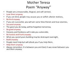 Mother Teresa Quotes Love Anyway Unique Mother Teresa Quotes On Life Do It Anyway Luxury Mother Teresa