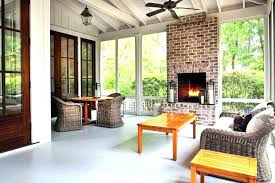 porch fireplace covered