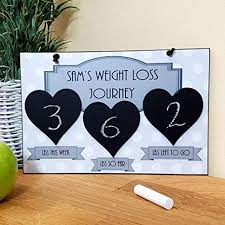 Weight Loss Chart Amazon Amazon Com Pottelove Personalised Weight Loss Journey