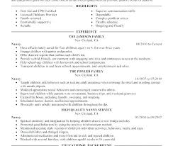 Nanny Resume Example New Sample Resume Nanny Resumes Example Housekeeper Job Description