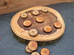 Wooden Naughts And Crosses Game Natural Rustic Wooden Tic Tac Toe or Noughts and Crosses Game 27