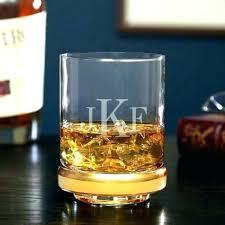 engraved scotch glass monogram whiskey monogrammed glasses set of 2 crystal logo engraved scotch glass