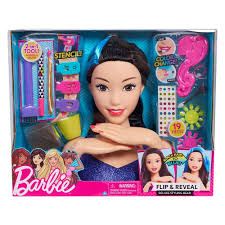 Barbie Hair Brush Designer Barbie Flip And Reveal Deluxe Styling Head Asian Barbie
