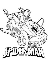 Lego Spiderman Coloring Pages Car Page Black Dpalaw