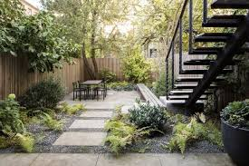 in a brooklyn backyard designer brook klausing edged limestone pavers with crushed limestone dust mixed