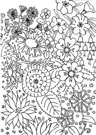 Floral Coloring Pages Spring Flower Coloring Pages Printable