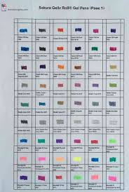 Gelly Roll Pen Color Chart Best Picture Of Chart Anyimage Org
