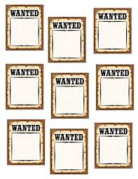 Teacher Created Resources Western Wanted Posters Accents Brown 5138