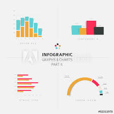 Set Of Vector Flat Design Infographic Charts And Graphs 2