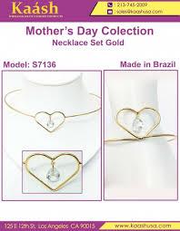 latest heart shape necklace set on whole