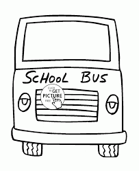 Small Picture School Bus Front Side coloring page for toddlers transportation