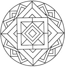 Easy Flower Mandala Coloring Pages Easy Flower Mandala Coloring