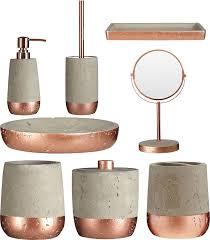 copper coloured bathroom accessories. neptune bathroom accessories copper \u0026 concrete soap dispenser holder jar tray coloured o