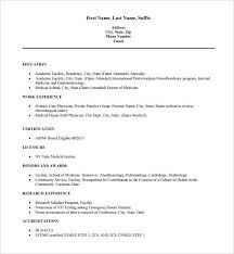 Free Medical Resume Templates Impressive Free Medical Resume Templates Doctor Resume Template Free Word Excel