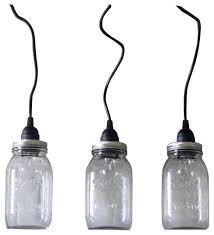hanging mason jar pendant lights set of 3 farmhouse pendant lighting by haddock industrial