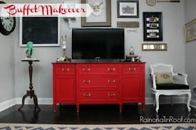painted red furniture. Country Chic Paint Red Buffet Makeover, Painted Furniture, The Works Perfectly With Furniture