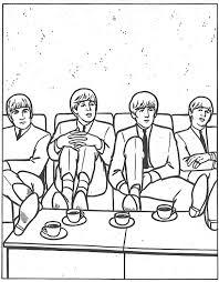 Kleurplaat The Beatles Animaatjesnl