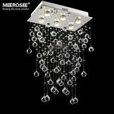 rectangle crystal light fixture ceiling mounted living room bedroom lamp res de cristals lighting with real k9 crystals md81758 crystal ceiling light