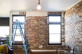 brick wall patterns over windows and doorways