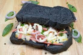 Black Bread Sandwich On Wooden Plates Stock Photo Oae1 103532572