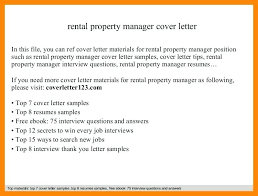 Rental Property Application Cover Letter Template Monster