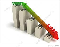profit loss graph illustration of profit and loss graph