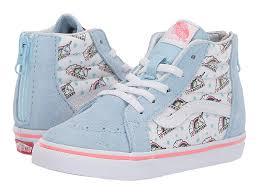 Vans Toddler Shoe Size Chart Vans Kids Sk8 Hi Zip Toddler Girls Shoes Unicorn Cool
