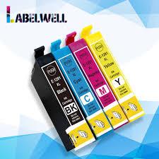 Labelwell <b>4PK</b> ink cartridge 12XL T1291 T 1291 12 XL <b>Compatible</b> ...