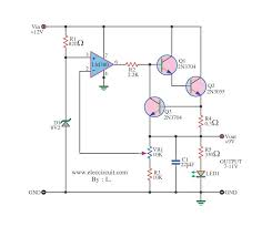 12v to 9v step down dc converter using ic 741 and 2n3055 google dc converter using ic 741 and circuit diagram