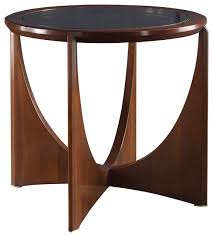 Dana Side Table Glass Top Baker Furniture modern side tables and end tables rustic round coffee table