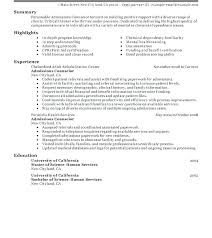 Admissions Counselor Resume Examples