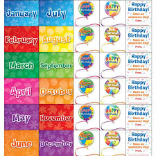 Celebrating Birthdays Space Saver Pocket Chart Cards Refill