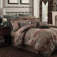 croscill galleria brown ont chenille jacquard woven 4 piece comforter set