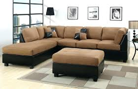 suede sectional couch microfiber sofa with chaise leather sect