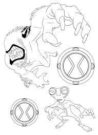 Ben 10 Kleurplaten Maskers