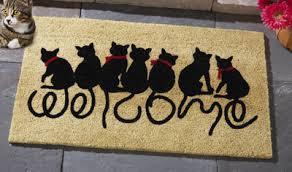 front door matWelcome Kitties Front Door Mat from Collections Etc