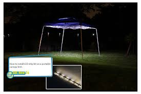 portable canopy tent led lighting kit photo gallery ilrating how to install led strip kit on portable canopy tent