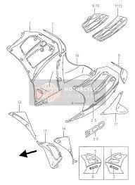 suzuki rf900r 1995 spare parts msp under cowling body rf900r