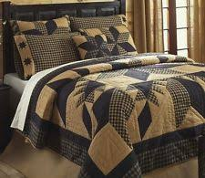 Country Quilts   eBay & DAKOTA BLACK STAR 3pc King QUILT SET : WESTERN CABIN RUSTIC COUNTRY BED Adamdwight.com