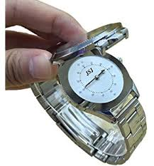 english talking watch for blind people or visually impaired people stainless steel tactile watch for blind people or the elderly battery operated for men