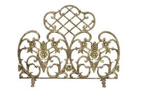Unique fireplace screens Custom Fireplaceinsertcom Uniflame Single Panel Antique Gold Cast Aluminum Fireplace Screen